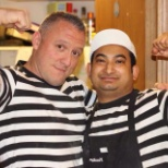Pizza Express photo: With my manager after a busy shift
