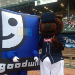 Puffy G with the New Hampshire Fisher Cats