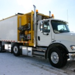 CJ Landscaping and Blower Truck Services photo: Freightliner Blower Truck