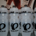 A small addition to a purchase: Pearl water bottles.