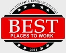 2011 and 2012 winner of Best Places to Work, Philadelphia Business Journal.