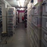 Stock room at American Apparel