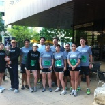 Indeed running team at the 2012 Statesman Capitol 10k