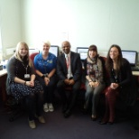 DAV Professional Placement Group photo: I am in a staffroom at Cheadle Academy in Stoke-on-Trent, West Midlands in England, United Kingdom