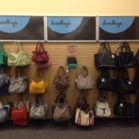 Purse Wall Complete located in the Front of the store