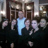 hostesses together with our general manager