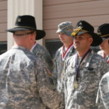 "SSG Paez receiving the ""Order of Saint Martin"""