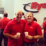 Ryder photo: CEO, Robert Sanchez, and EVP, Greg Greene, during Annual Employee Appreciation Week.