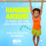 The Little Gym photo: Hanging around is part of the job description