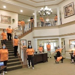 Check out the Sunrise of Minnetonka, MN, team showing off their orange pride!