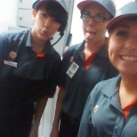 On break with my co workers