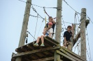Area 51 Ropes Course builds teamwork and communication for Space Camp trainees.