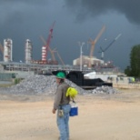 Methanex Chemicals awaits  a summer storm.