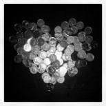 Cancer Research UK photo: Pennies for life saving trials & research.