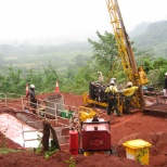 Rio Tinto photo: IRON ORE exploration Guinea in Africa Rio project around 2007-8-9