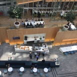 Deloitte photo: Atrium en koffiebar in The Edge, het Deloitte kantoor in Amsterdam.