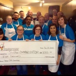 Shaw Communications photo: Edmonton employees volunteering at Ronald McDonald House