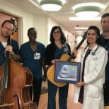 Presbyterian/St. Luke's Medical Center photo: Our in-house band received the 7Everyday Hero Award!