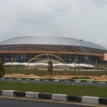 97,2% progress of the Football Main Stadion Construction Project Pekan baru, Riau 2009-2012