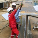TAKING MEASUREMENT EPC 1B EXXONMOBIL PROJECT