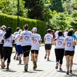 Running together to support AXA Hearts in Action