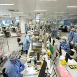 Cochlear Ltd photo: World-class clean room manufacturing to produce safe, reliable implantable hearing solutions.