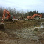 Morgan Construction & Environmental Ltd. photo: pond excavation