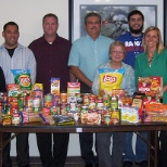 Here is a sampling of our food drive donations for local shelters.