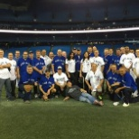 At the Rogers Center with the Toronto Blue Jays