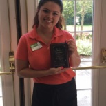 Atria Hertlin Place staff member is honored as employee of the month.