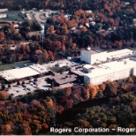 The Rogers Corporation headquarters located in Rogers, CT.