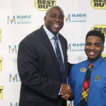 Me meeting Magic Johnson for the Better U @ Best Buy Fitness Event