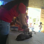 Department Of Health photo: Photo taken during Medical Mission @ Brgy. 7, Bacarra, I.N.. I am taking blood pressure with my pt.