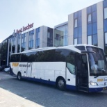 We have a daily company bus providing transport from and to Utrecht Central Station.
