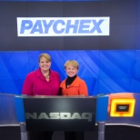 Ringing the bell in recognition of Veteran hiring at Paychex.  We are committed to hiring veterans.