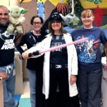 Associates bring their love of movies to patients in their clinic.