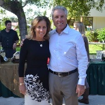 Diane and Robert Bok, Chief Marketing Officer and CEO, at the employee paella lunch.