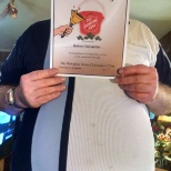 this is me showing that i got an certificate for me bell ringing for the salvation army .