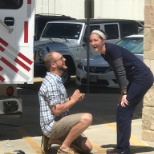 Baylor Scott & White McLane Children's Medical Center nurse Corbin proposed to fiance, Rachel.