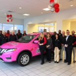 Crown Nissan of Greensboro shows support for Breast Cancer Awareness