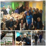 Delta Dental of MN team members packing meals for families  in need.