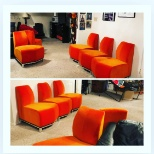 Love their orange chairs