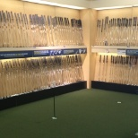 Practice your putt in store to find the right putter for your game!