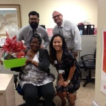 ProCare One photo: Terry at St. Mary's in Log Beach is pictured here with our Account Managers: Gina Alino, Julian Gria