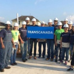 Habitat for Humanity project in Houston,Texas. Part of TransCanada's giving and volunteering program