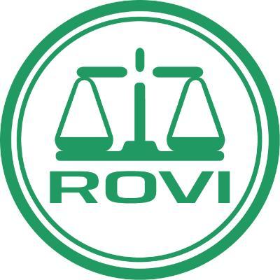 logotipo de la empresa Laboratorios Farmacéuticos Rovi S.A