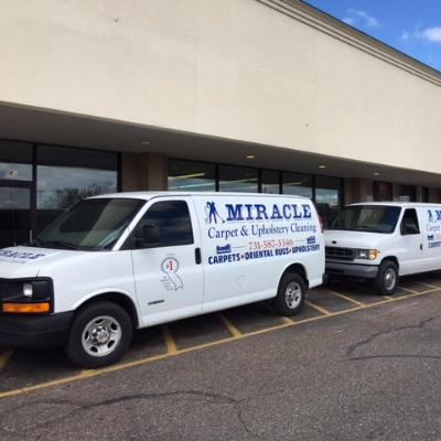 Company Logo. Miracle Carpet & Upholstery Cleaning Laborer
