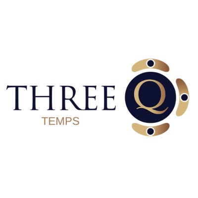 Three Q PERMS and TEMPS logo