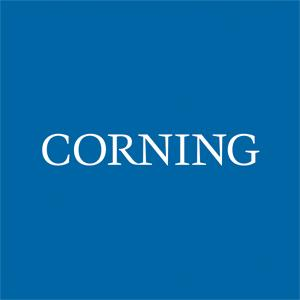 logotipo de la empresa Corning
