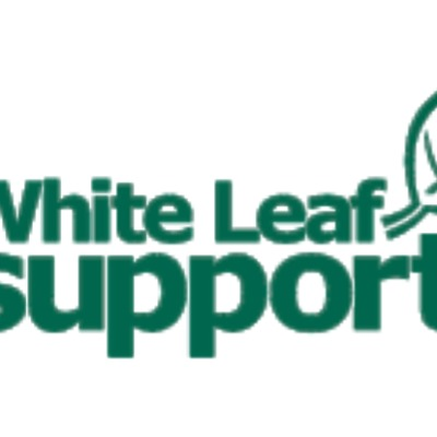 White Leaf Support logo